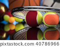 Group of sports equipment 40786966