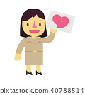 Thai cartoon character design of government woman  40788514