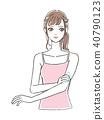 一個年輕成年女性 女生 女孩 40790123