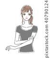 一個年輕成年女性 女生 女孩 40790124
