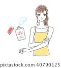 應用防曬吊帶背心的女人 40790125
