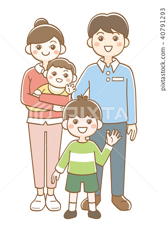 Family Parent And Child Nuclear Family Stock Illustration