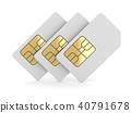 Three White Sim Card 40791678