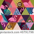 flamingo, bird, pattern 40791796
