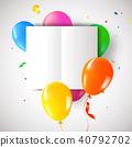 birthday, party, card 40792702