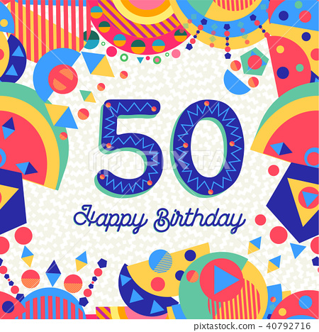 50 fifty year birthday party greeting card 40792716