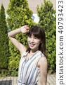 夏季紫外線圖像女性美 40793423