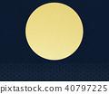 gold leaf, moon, sunup 40797225