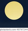 gold leaf, moon, sunup 40797244