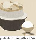 Background - Washi - Wagashi - Feather - White rice 40797247