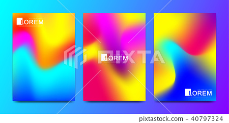 Modern vector template for brochure, leaflet, flyer, cover, catalog in A4 size. Abstract fluid 3d 40797324