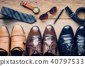 Leather shoes and accessories for work  40797533