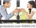 couple, restaurant, present 40800145