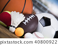 Group of sports equipment 40800922