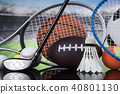 Sports balls with equipment 40801130