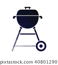 icon, bbq, grill 40801290