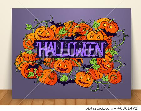 halloween abstract illustration invitation card  40801472