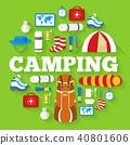camp, equipment, set 40801606