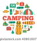 camp, equipment, set 40801607
