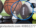 Sports balls with equipment 40802277