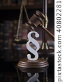 Mallet, Law, legal code and scales of justice 40802281