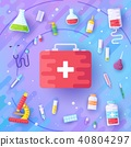 Medicine information background. Medical clinical  40804297