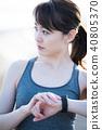 運動 運動員 練習 40805370