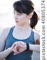 運動女性 40805374
