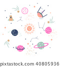 Cute planets vector illustration clipart for kids. 40805936