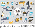 Pets flat illustration concept. Wildlife and zoo 40806878