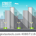 skyscraper building in city space with road 40807116