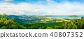 panorama high angle view of Chalong Bay 40807352