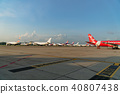 Airliners are parking on parking at Don Mueang 40807438