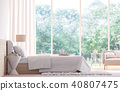 Modern bedroom 3d render 40807475