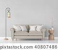 Modern vintage living room interior 3d render 40807486