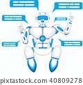 robot, bot, vector 40809278