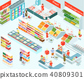Supermarket Isometric Illustration 40809301