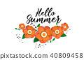 Bright Hello summer poster. 40809458
