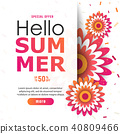 Bright Hello summer poster.50 discount 40809466