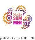 Bright Hello summer poster. 40810794