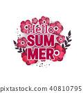Bright Hello summer poster. 40810795