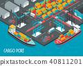 Cargo Port Illustration 40811201