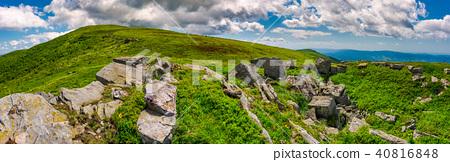panorama of Runa mountain with rocks on hillside 40816848