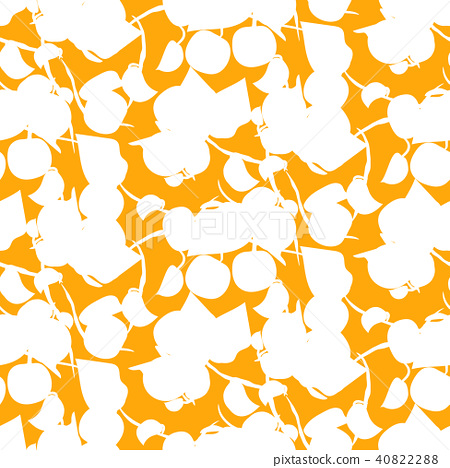 Abstract fruit silhouette orange seamless vector pattern. 40822288
