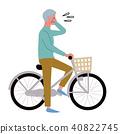 自行車困擾的老人例證 40822745