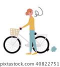 자전거 펑크 문제 일러스트 40822751