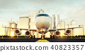 White commercial airplane 40823357