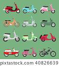 vector retro motorbike 40826639