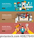 Flat design concept illustrations. 40827649