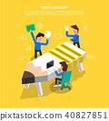 flat design concept vector illustrator. 40827851